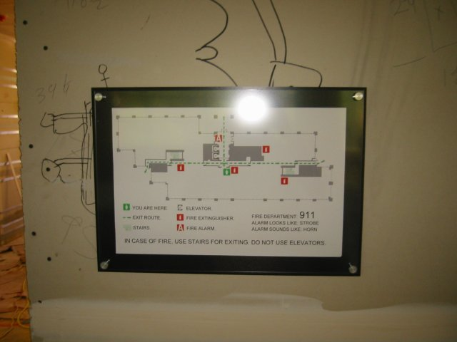Evacuation Plan Plaque