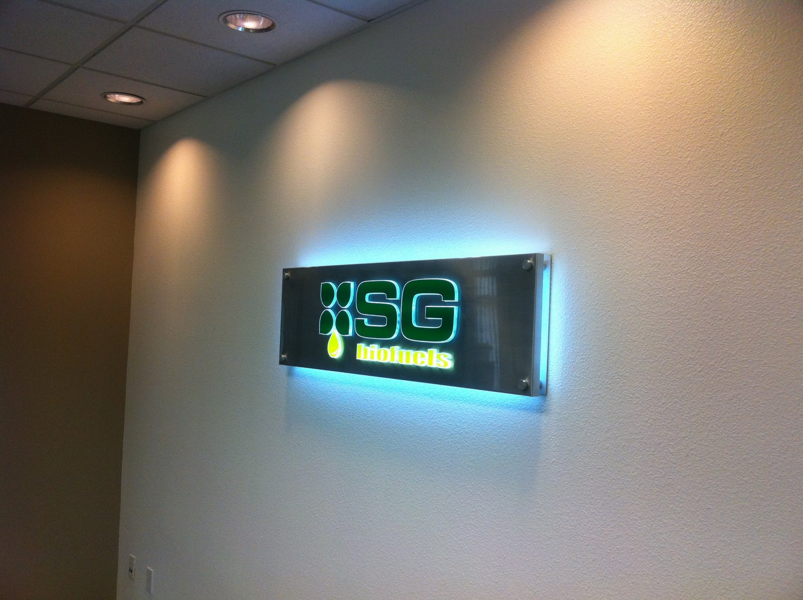 Illuminated Lobby Sign
