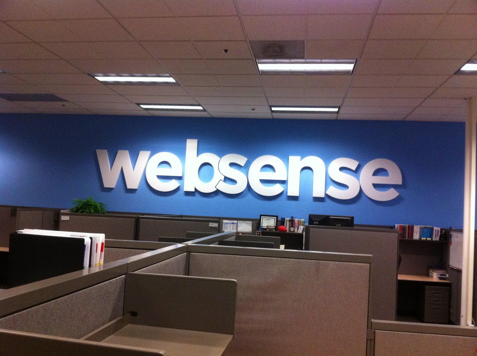Websense Office Sign - Sorrento Valley, San Diego