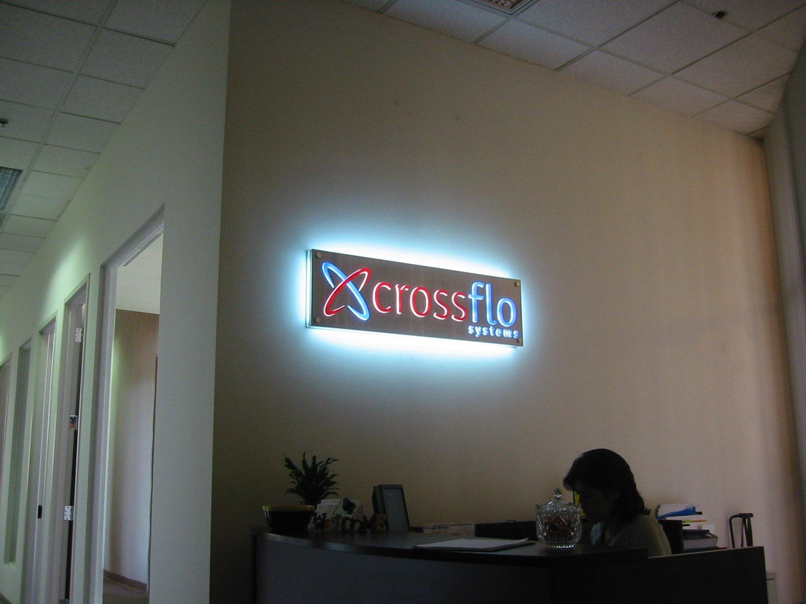 Crossflo Lobby Sign